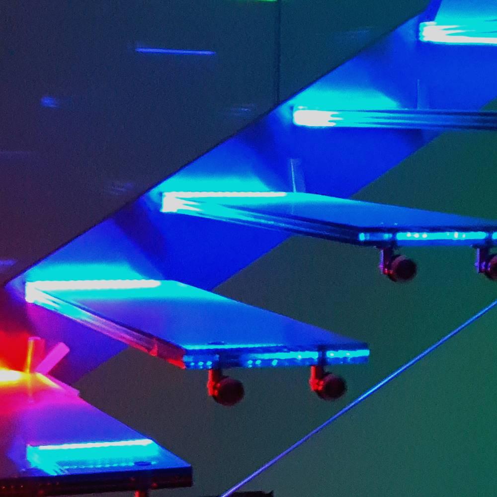 schody szklane stopnie