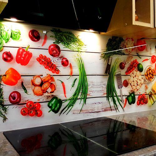 szkło do kuchni z nadrukiem