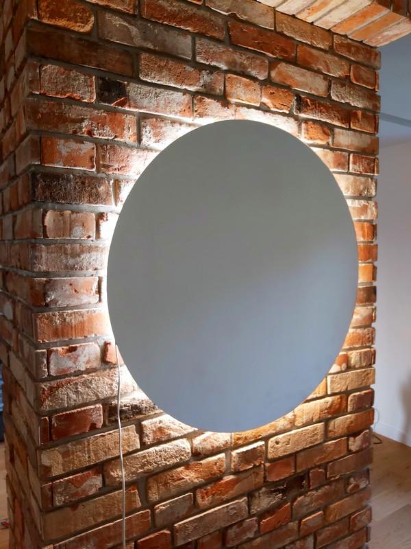 lustro na wymiar z podświetleniem